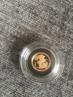 2009 Royal Mint Gold Proof Quarter Sovereign Coin With Presentation Box And COA