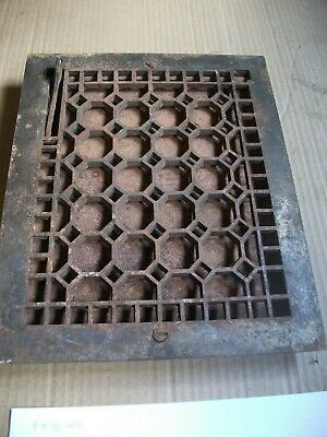 Heat Air Grate Wall Register 9 x 12 approx. OA   8 x 10 wall opening HEXAGON
