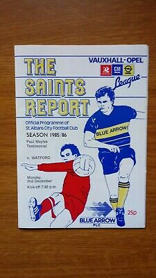 **SIGNED BY 4 WATFORD PLAYERS**  St albans city v watford testimonial Programme