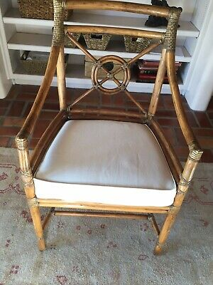 Pair of McGuire Target Style Arm Chairs - excellent condition