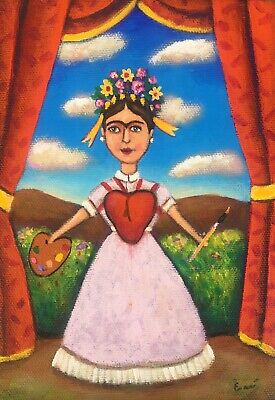 """Painting by mexican  artist Esau Andrade """"Frida"""""""