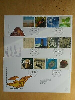 GB 2000 Life & Earth, Art & Craft and Mind & Matter First Day Covers