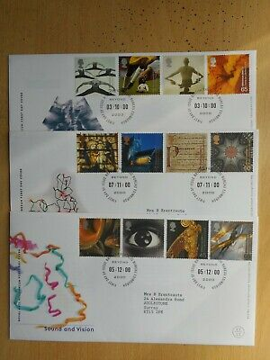 GB 2000 Body & Bone, Spirit & Faith and Sound & Vision First Day Covers
