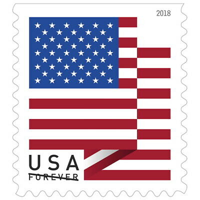 USPS Forever Stamps - US Flag (2018 Version) - 1,000 Stamps - Rolls of 100
