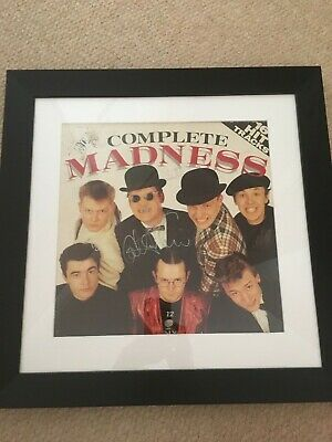 Genuine autographed Madness LP cover