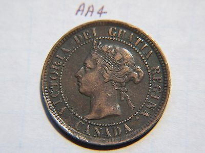 1884 Canada Large Cent Coin , Canadian One Cent