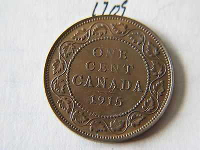 1915 Canada Large Cent Coin , Canadian One Cent