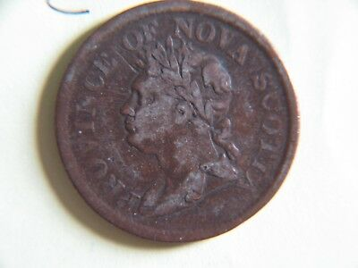 1824 Token One Penny, Province of Nova Scotia
