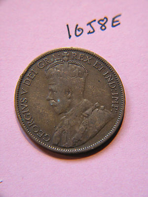 1913  Canada, Canadian Large Cent Coin , Canadian One Cent