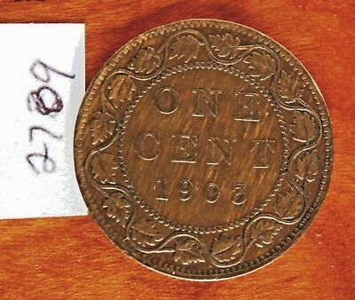 1903  Canada, Canadian Large Cent Coin