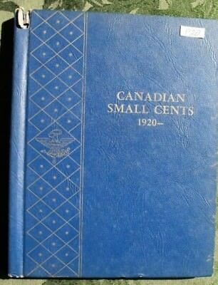 Canada Canadian Small 1c (One) Cent Coins Partial Album 1920-1969