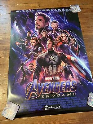 Avengers Endgame Movie poster 27 x 40 Original Double Sided DS - Mint