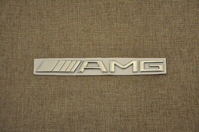 "Mercedes-Benz Cla Genuine ""Amg"" Rear Boot 3D Silver Badge / Emblem"