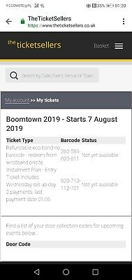Early entry ticket for chapter 11 2019 BOOMTOWN (Wednesday entry)