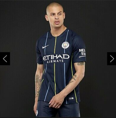 OFFICIAL NIKE Manchester City Away Shirt 2018/19 Dark Obsidian / White SMALL (S)