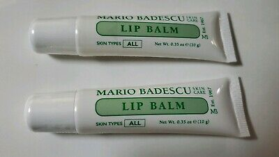 LOT OF 2 Mario Badescu Lip Balm - 0.35oz Full Size BRAND NEW SEALED