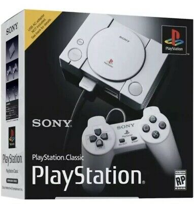 Original Sony PlayStation Classic Mini Console With 20 Classic Games 2 Controls