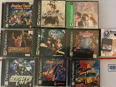 Huge Lot Of PlayStation Consoles, Games, Accessories And PC Games Square Soft