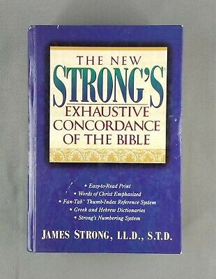 New Strong's Exhaustive Concordance of The Bible w/ Hebrew & Greek Dictionaries