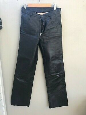 Vintage Atelier Coyote  Leather Pants Late 1970's Size 30