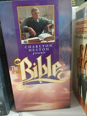 VHS Charlton Heston Presents THE BIBLE Stories Old New Testament Readers Digest