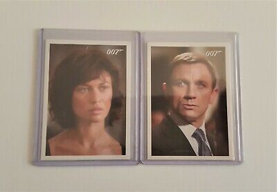 James Bond Archives Promo Cards P1 & P2 By Rittenhouse (2009)