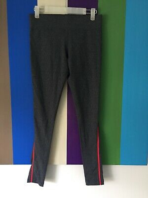 Lorna Jane Yoga Pants S Grey Red Run Full Tight stretch gym workout active sport