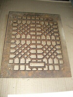 Heat Air Grate Wall Register 10 x 11 approx. OA   8 x 10 wall opening Unusual