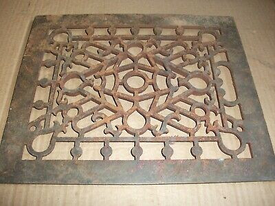 Heat Air Grate Wall Register 9 x 12 approx. OA   8 x 10 wall opening FANCY!FANCY