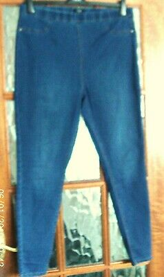 special price for quality design real deal MATALAN DENIM MID Stone Wash Blue Stretchy ELASTICATED SKINNY JEGGING  LEGGING 16