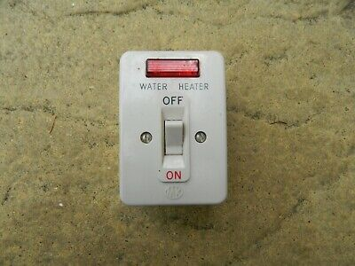 Unused Vtg MK ivory Bakelite Surface Immersion Heater on/off Switch with Light