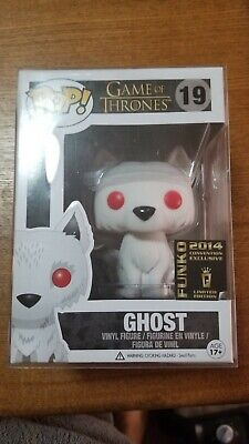 Funko POP! Game of Thrones #19 Flocked Ghost 2014 SDCC Exclusive RARE