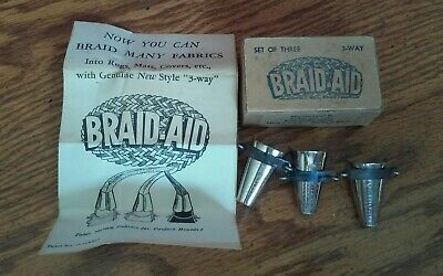 Braid-Aid -  Set Of 3 -  In Original Packaging