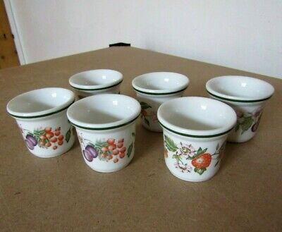 Johnson Brothers Fresh Fruit Pattern - Set of 6 x Egg Cups