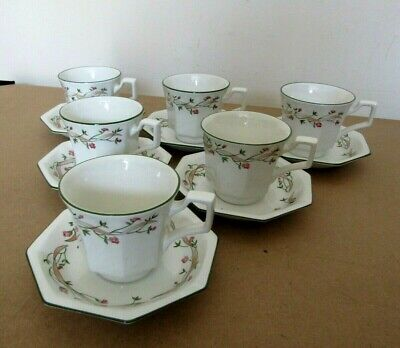 Johnson Brothers Eternal Beau Pattern - Set of 6 x Cups & Saucers