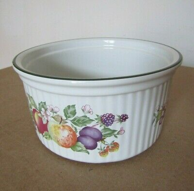 Johnson Brothers Fresh Fruit Pattern -  Oven to Table Souffle Dish  7'