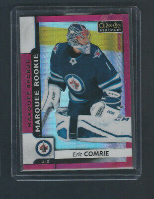 2017-18 OPC O-pee-chee Platinum Rookie Red Prism /199 # 196 Eric Comrie