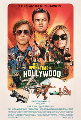 Affiche Pliée 40x60cm ONCE UPON A TIME... IN HOLLYWOOD 2019 Tarantino NEUVE