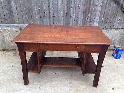 Very Nice Antique Arts & Crafts Mission oak Stickley Desk And Bookshelves
