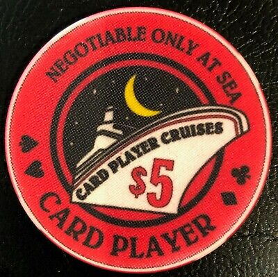 Card Player Magazine Cruises Vintage $5 red Casino Poker Chips boat wpt wsop