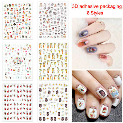 Decals DIY Manicure Nail Art Decoration 3D Adhesive Wraps Nail Stickers