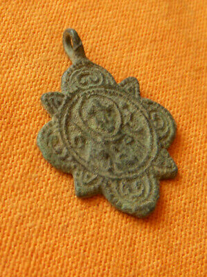 A179. Byzantine style bronze small double faced cross