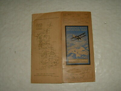 Ordnance Survey Aviation Map Sheet 9 Eastern Counties (S) Waterproof Cloth 1937