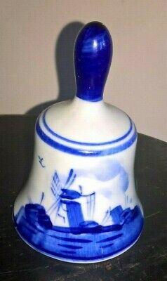 Delft Miniature Bell Blue & White Hand Painted Made in Holland 607 Delftsblauw