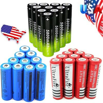 18650 Li-ion Battery 3.7V Rechargeable Batteries For Flashlight Torch Headlamp