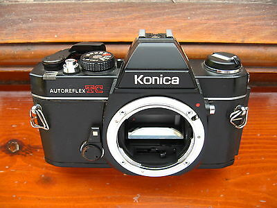 Vintage KONICA TC  SLR CAMERA BODY FOR 35mm film all working