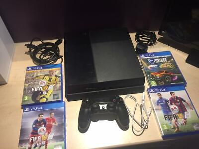 Sony PlayStation 4 500 GB Console  plus 4 Games and accessories
