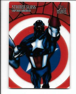 Upper Deck Marvel Flair Stained Glass SG-6 Captain America