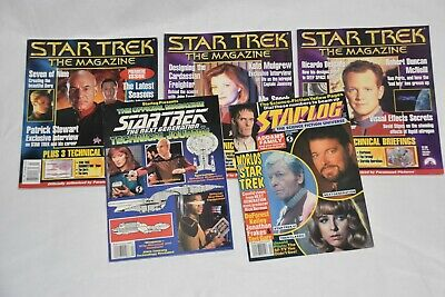 Star Trek Magazine Lot: Premiere May 1999, June #2, January 2000 #9, Starlog ++