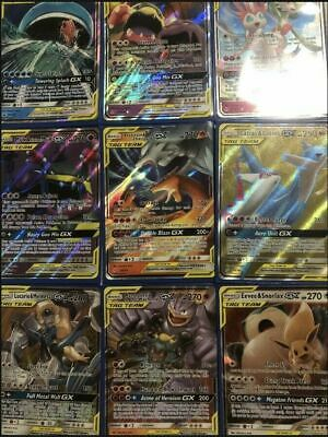 Pokemon cards TCG 100 bulk Lot 1x ULTRA RARE Team GX 9 rares/shiny Amazing Gift